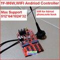 Tf-m6w беспроводной wi-fi из светодиодов платы управления, Поддержка 512 * 64, 2 hub08, 4hub12 порт, Один цвет, Двухцветный andriod из светодиодов платы управления