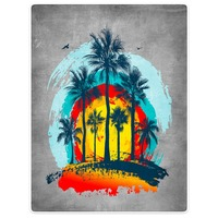 HommomH Blanket Tropical Landscape Palm Tree Colorful Throw Comfort Warm Soft Plush Throw For Sofa