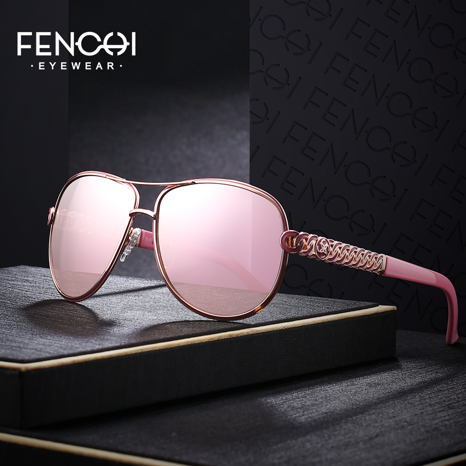 FENCHI Sunglasses Women Driving Pilot Classic Fashion Sunglasses High Quality Temple Metal Designer Sun Glasses