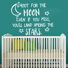 Creative moon quote Wall Sticker Self Adhesive Vinyl Waterproof Art Decal Living Room Children Stickers