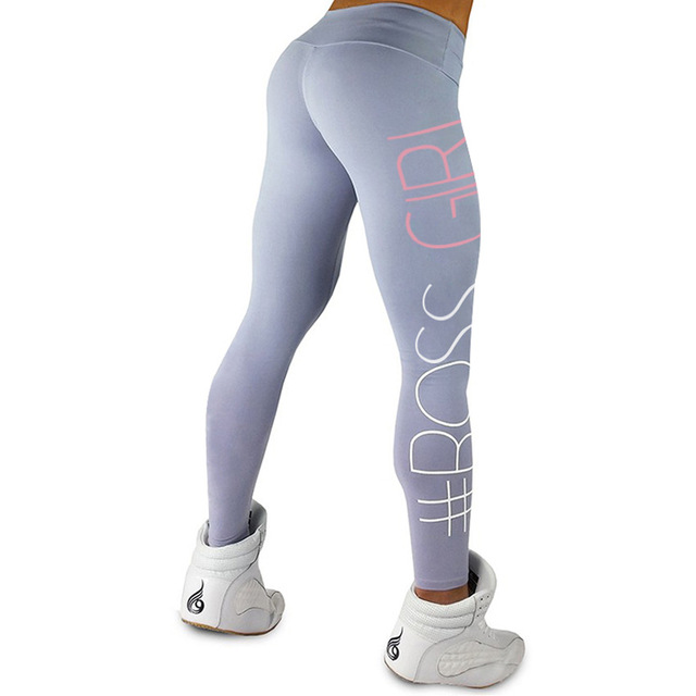 fb13c46336 Women Leggings Fashion Boss Girl Printed Workout Casual clothing Fitness  High Waist Sexy slim legging pants Hot sale leggings