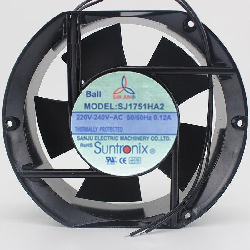 Brand new original SJ1751HA2 AC220V 172*150*51 double ball bearing aluminum frame fanBrand new original SJ1751HA2 AC220V 172*150*51 double ball bearing aluminum frame fan