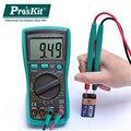 Pro'skit MT-1280 3 5/6 true RMS высокоточный автоматический цифровой дисплей антигорящий мультиметр емкостной температурный тест
