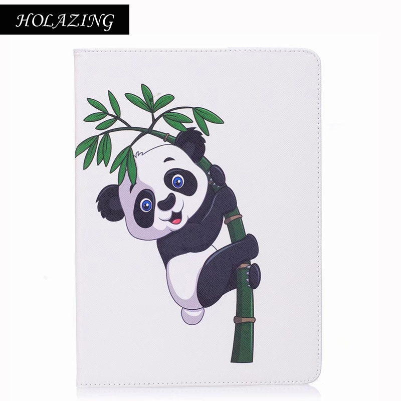 HOLAZING Case For Samsung Galaxy TAB A 10.1 T580N/T585C Owl Butterfly Panda Pattern PU Leather Flip Tablet Shell Cover