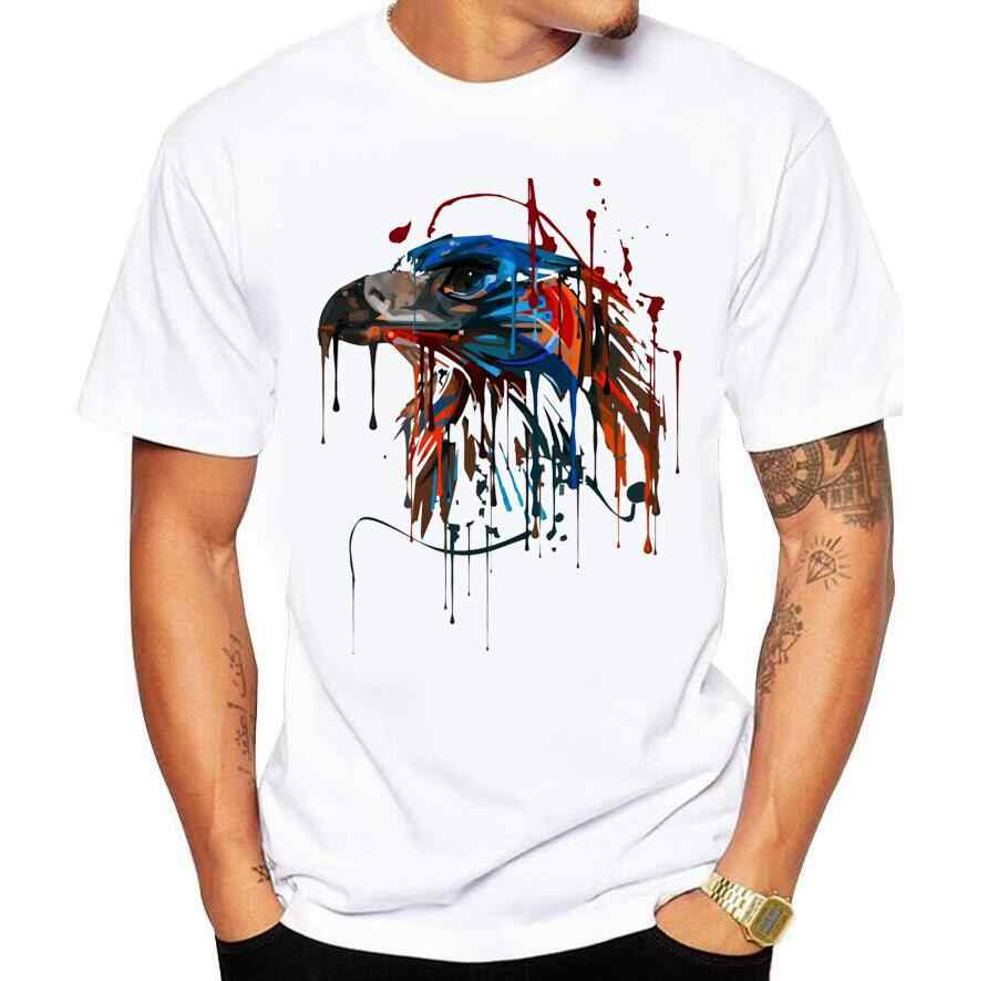 2018 summer casual men's T-shirt creative print Hawkeye mechanical eye t shirt fashion brand O-Neck cotton shirt tee shirt homme