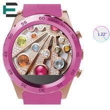 """E T MTK6260 1,22 """"HD NFC Smart Uhr Pulsuhr 0.3MP unterstützung SIM musik Smartwatch für mann frau Touch Uhren PK DM09"""