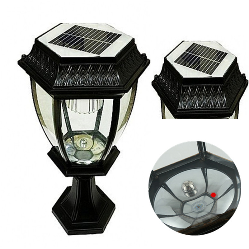 Waterproof Aluminum Bright LED Solar Light Fence Gate Post Light Home Outdoor LED Garden Light Lawn Powered Lamp solar powered self recharged led white light lawn lamp 1 aa