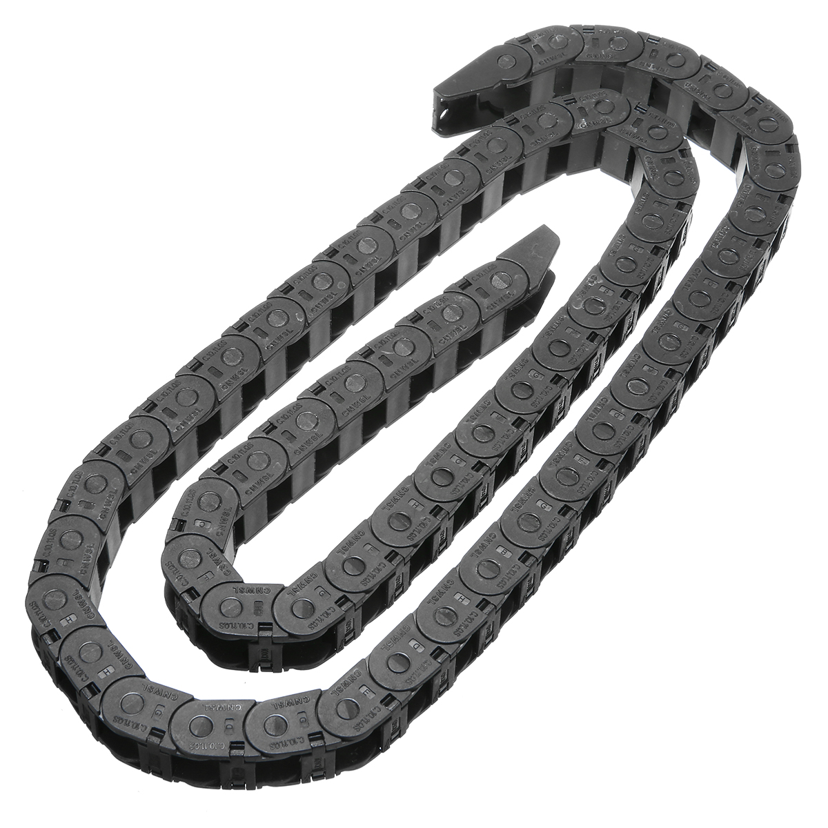 10x11mm 1M Nylon Cable Carrier Drag Chain Nested Wire Carriers Transmission Tank Chains Towline for CNC Router Machine Tools