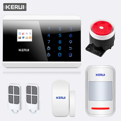 KERUI 433 Mhz 8218G Sistema di Allarme PSTN GSM Dual Rete Touch Dual APP di Controllo di Allarme di Sicurezza Domestica del Rivelatore del Sensore antifurto Kit