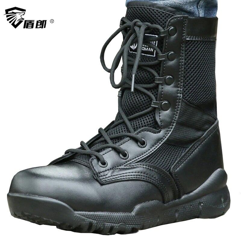 Doux Combat Respirant Oxford Chaussures Léger Été Mesh Bottes Hommes Armée Black Tactique De Tacticos Militaire Bottine Zapatos Ing87