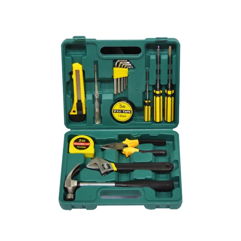 цены 16pcs/set Hardware Toolbox Car Maintenance Emergency Kit Assembly Tool Vehicle Maintenance Emergency Suit