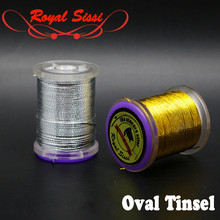 2spools metallic oval tinsel gold &silver oval french tinsel fly tying supplies ribbing on moist nymphs salmon& steelhead flies