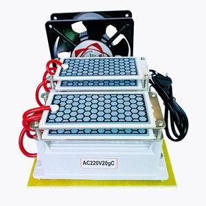 Image 5 - 220V/110V 20g 10G güçlü Ozonizer seramik ozon jeneratörü ozon ozonator çift entegre seramik tabak Ozonizer hava temizleyici