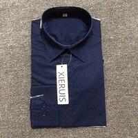 XIERUIS 2017 New Design Loyal Blue Shirts Men Solid Turn-Down Collar Shirt Long Sleeve Social Men Shirts S-XXL