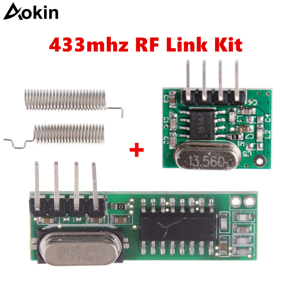 US $1 49 35% OFF|433 Mhz Superheterodyne RF Receiver and Transmitter Module  433Mhz Remote controls For Arduino uno Wireless module Diy Kits-in