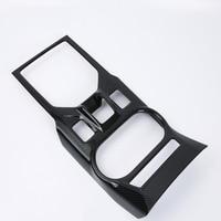 For SUBARU XV 2018 1PC Carbon Fiber ABS Chrome Car Center Control Gear Shift Storage Box Panel Cover Trim Molding Car Styling