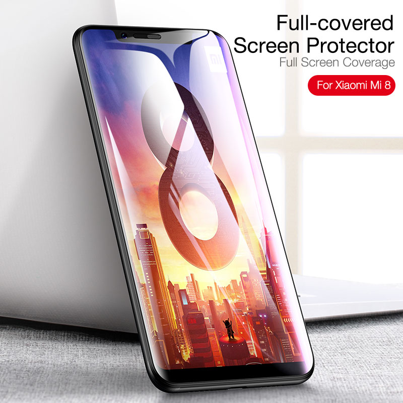 Cafele Full Coverage Tempered Glass For Xiaomi 8 HD Clear 9H Hardness Anti Scratch Glass Screen Protector For Xiaomi 8