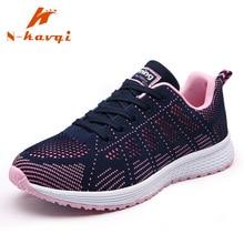 Купить с кэшбэком NKAVQI 2019 New Fashion Sneakers Women Mesh Breathable Ladies Casual Shoes Comfortable Platform Shoes Women Zapatos De Mujer