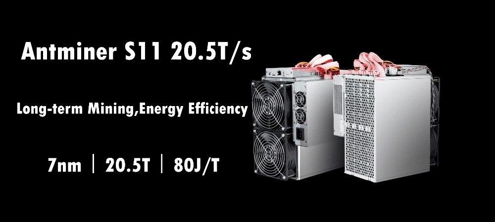 Asic BTC BCH SHA-256 Minatore AntMiner S11 20.5 T Con ALIMENTATORE Bitcoin Minatore Meglio di S9 S9i S9j T15 Z9 whatsMiner M3 M10