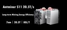Asic BTC BCH SHA-256 Miner AntMiner S11 20,5 T Mit NETZTEIL Bitcoin Miner Besser Als S9 S9i S9j T15 Z9 whatsMiner M3 M10