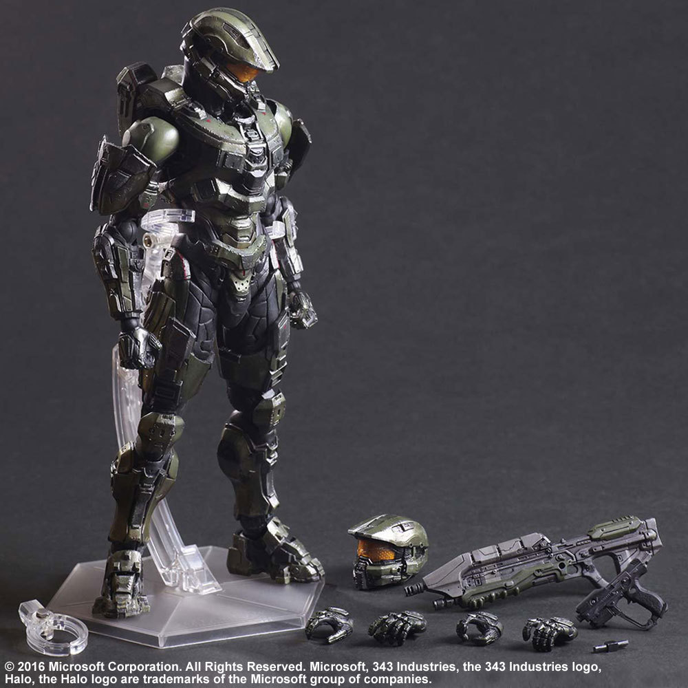 Halo Action Figures Play Arts Kai Master Chief PVC Toys 260mm Anime Movie Model Halo 5 Playarts Kai Tobyfancy halo 5 guardians play arts reform master chief action figure