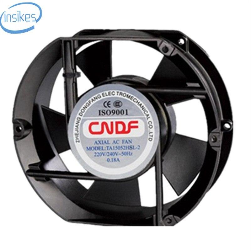 DHL Free TA15052HBL-2 AC 220V  0.18A 17252 17CM 172*150*52mm 2 Wires 50/60HZ Axial Cooling Fan термореле abb ta ta75 du 52 82500449