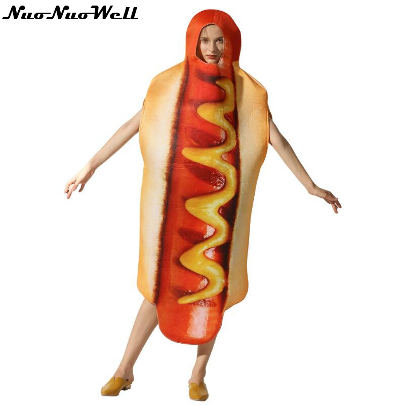 Systematic Hot Dog Cosplay Costume Sandwich Costumes Christmas Halloween Party Dress Outfit Jumpsuit Role-play Stage Performance Food Dress Fixing Prices According To Quality Of Products