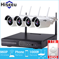 Hiseeu wireless cctv sistema de 960 p nvr 1 tb hdd 4ch wireless potente cámara ip ir-cut cctv sistema de seguridad de vigilancia kits