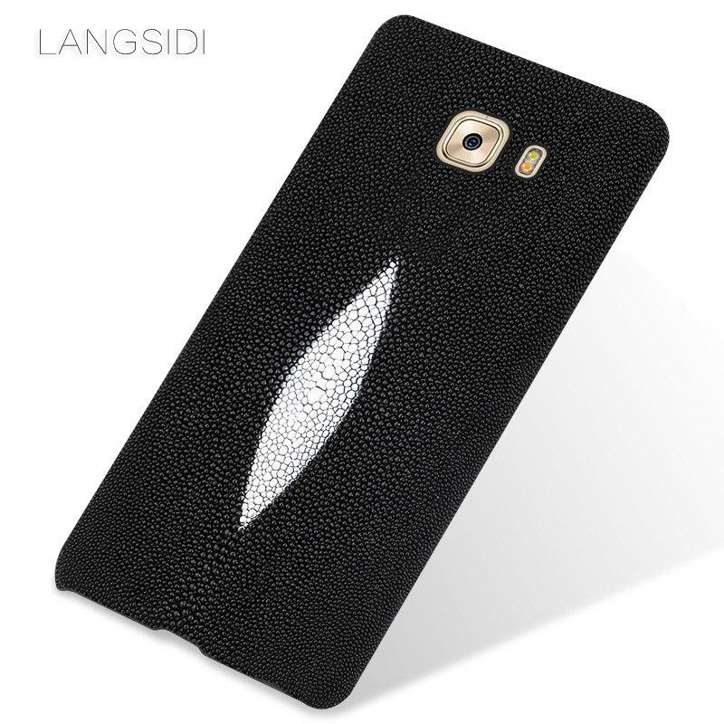 Wangcangli marque étui de téléphone portable perle poisson demi-paquet de étui de téléphone portable pour Samsung C9 Pro coque de téléphone traitement personnalisé