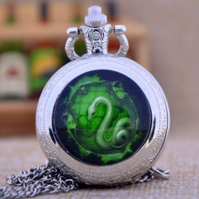 Hogwarts Harry Potter Slytherin School Green Snake Black/Bronze/Silver Dome Quar