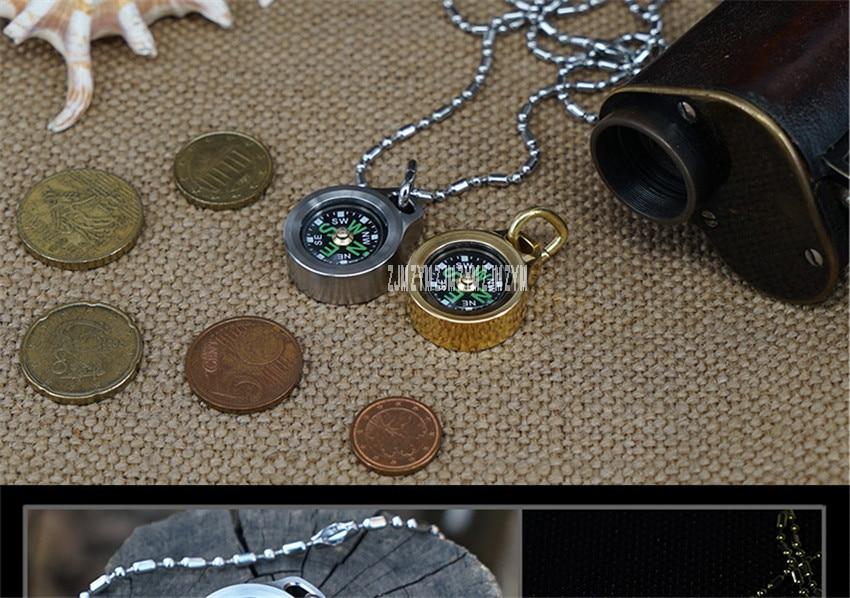 bolso bússola dourada navegação para atividades ao ar livre CPS-TI diâmetro 25mm