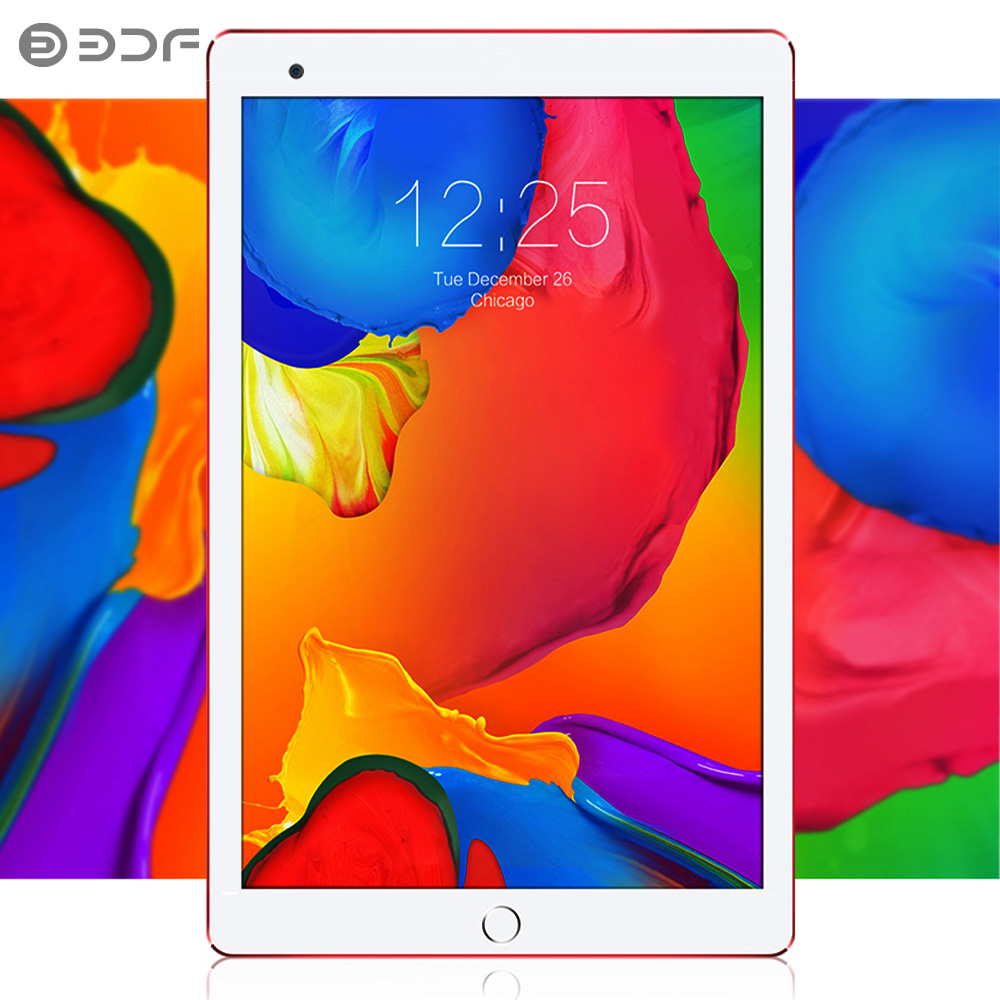 BDF New Android 7.0 Tablets 10 Inch 1GB+32GB Bluetooth Wifi  IPS Quad Core 3G Dual SIM Card Phone Call Tablet Pc