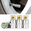 4 unids/lote válvulas Cap indicador Sensor caliente 2.4 bar psi 3 alerta Color de nuevo accesorios para coche coches presión de neumáticos neumáticos Monitor