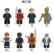 Singolo Marvel Avengers Infinity War Super Spiderman Pepe Ayo Iron Man okoye Macchina da Guerra building blocks giocattoli per i bambini(China)