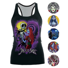 2019 The Nightmare Before Christmas Tank Top For Women Corpse Bride Gothic Style Halloween Sleeveless Vest