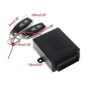 Image 2 - Kit de sistemas de alarma de coche Universal cerradura de puerta Central remoto de coche, sistema de entrada sin llave de vehículo con 2 controladores remotos