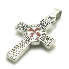 Men Boy 316L Stainless Steel Silver Newest Cross Knights Templar Classic Pendant(China)
