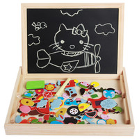 Learning Education Toy Wooden Multifunction Children kid Animal Farm Transport Insect Puzzle Writing Magnetic Drawing Blackboard