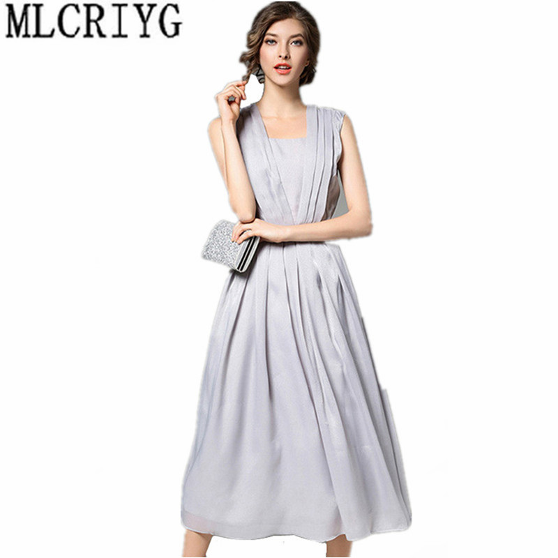 6d7f601b4326c Soirée Femme Femmes Robes gray Décontracté 2019 D été Robe Sky Élégante  Longues Red Fête Mousseline Festa Blue Tenue ...