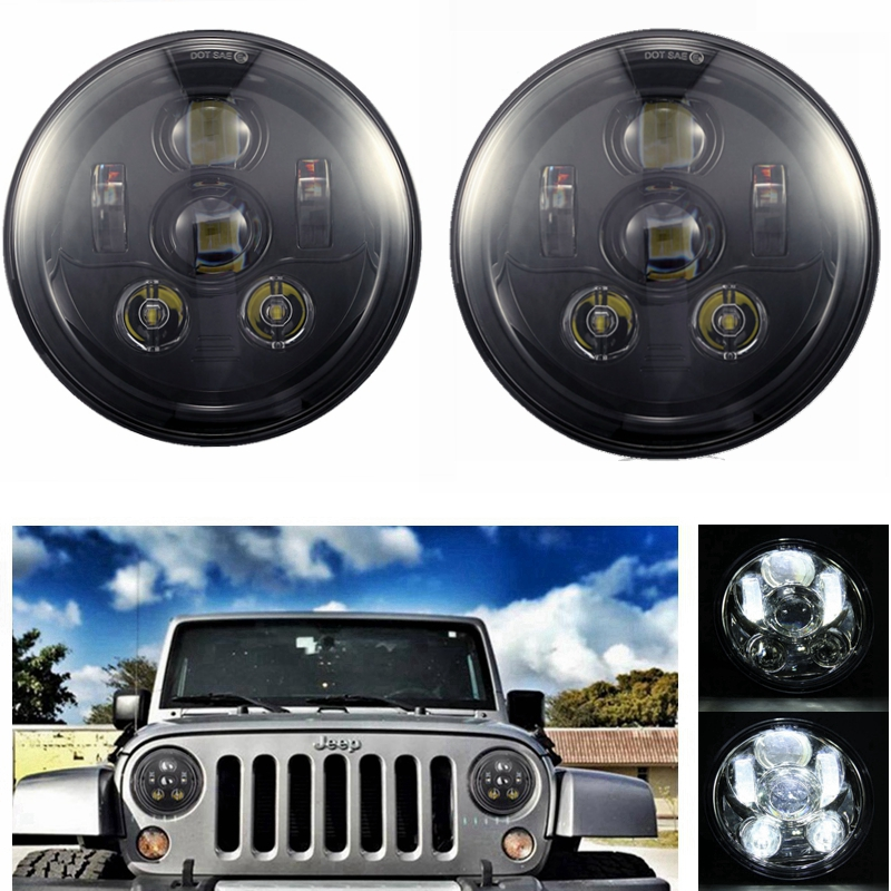 7-дюймовый LED Daymaker фары для Jeep Вранглер JK и TJ Хаммер дальнего света Харлей Дэвидсон