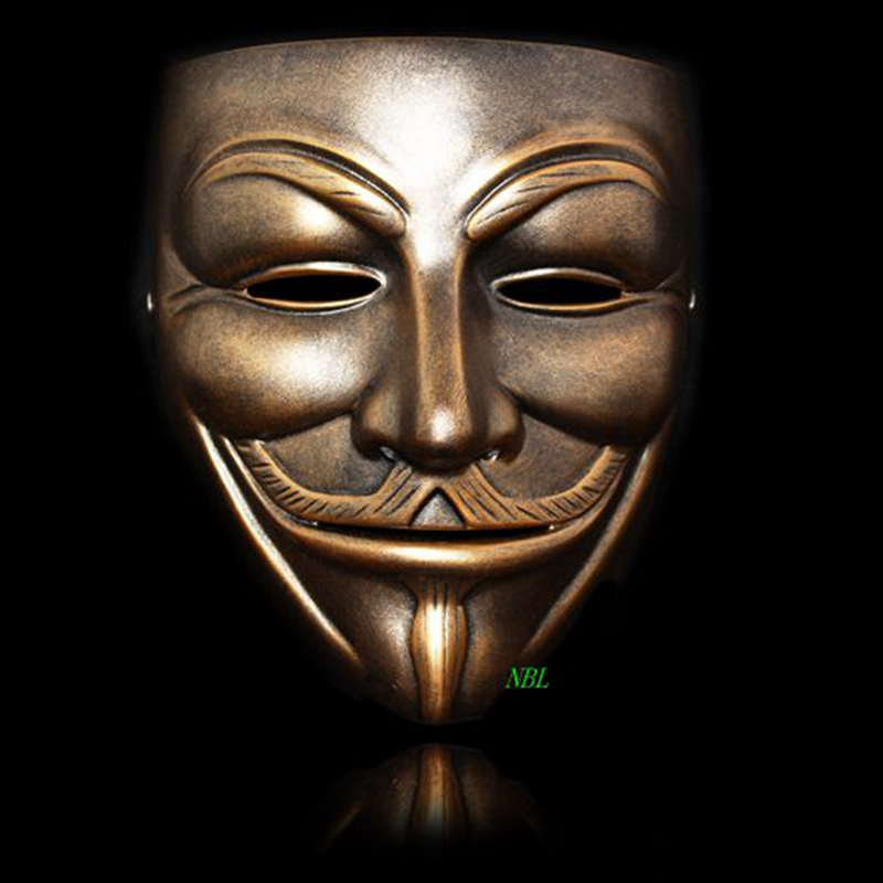 Image 5 - Halloween Masquerade Anonymous Guy Fawkes Fancy V Masks V for Vendetta Resin Mask Dress Adult Costume Cosplay Party Props-in Party Masks from Home & Garden
