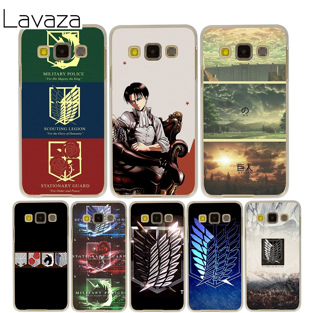 Lavaza Attack on Titan logo Case for Samsung Galaxy A3 A5 2015 2016 2017 A8 Plus 2018 Note 8 5 4 3 2 Grand 2 Prime