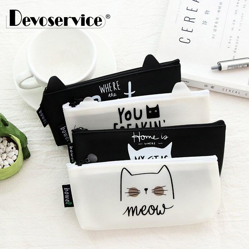 1Pc Kawaii Cute Cat Pen font b Bag b font Pencil font b Bag b font