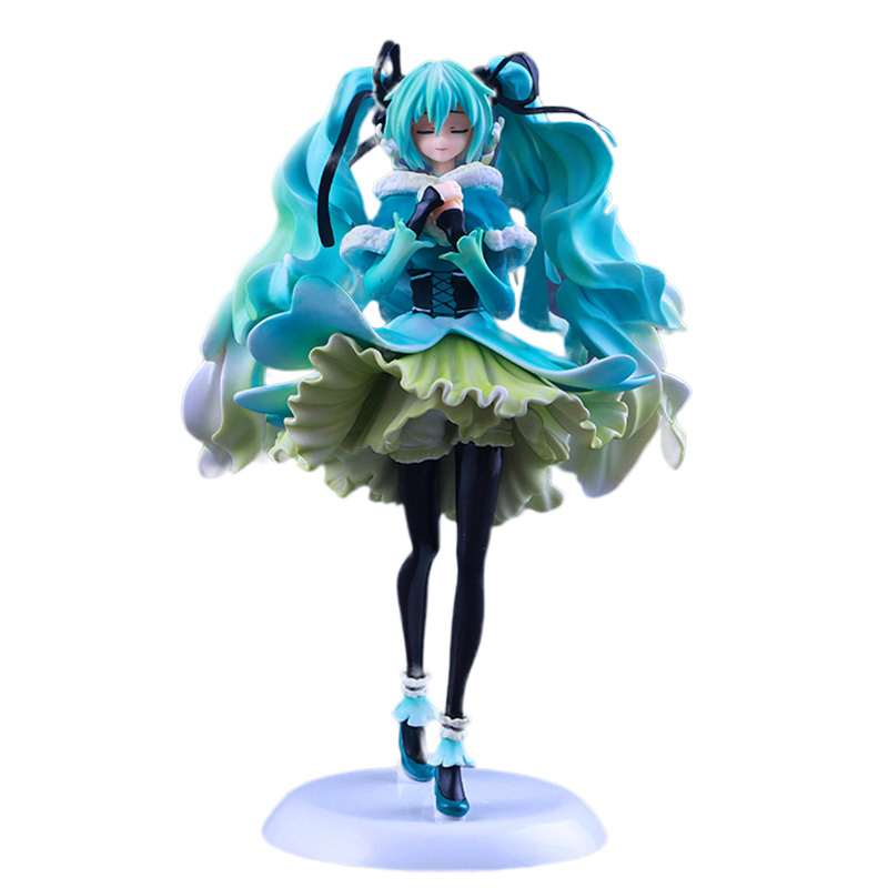 Anime Figure 28 CM Hatsune Miku Snow in Summer 1/7 Scale Pre-painted PVC Action Figure Collectible Model Toy terminator 3 rise of the machines t x 1 6 scale pre painted pvc action figure collectible model toy 28cm