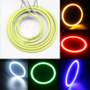 2pair(4pcs) 60MM 70MM 80MM 90MM 100MM 110MM 120Mm Car Led Headlight COB Angel Eye LED CCFL Halo Ring Angel Eyes Warning Lamps