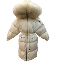 Women Parkas Winter Ladies Casual Long Coats Woman Jackets Winter Women Slim Hooded Fur Cotton Parkas Warm Coat Outwear