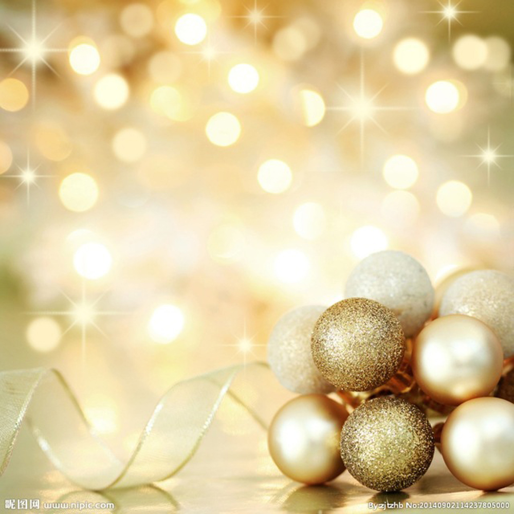 Baby Children Christmas Photography Shoot Backdrop Gold