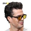 SHINU 2016 Близорукости Дальнозоркости Оптический Рама С clip-on наборы Поляризованный День Ночного Видения 3 Использование клип на солнцезащитные очки SH77002
