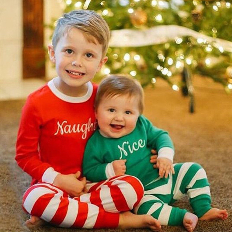 Cotton Stripe Baby Girl Clothes Baby Boy Clothes Set Baby Christmas ...