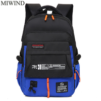Free Shipping MIWIND Fashion Boys Book Bag Breathable Backpacks Children School Bags Men Leisure Travel Shoulder